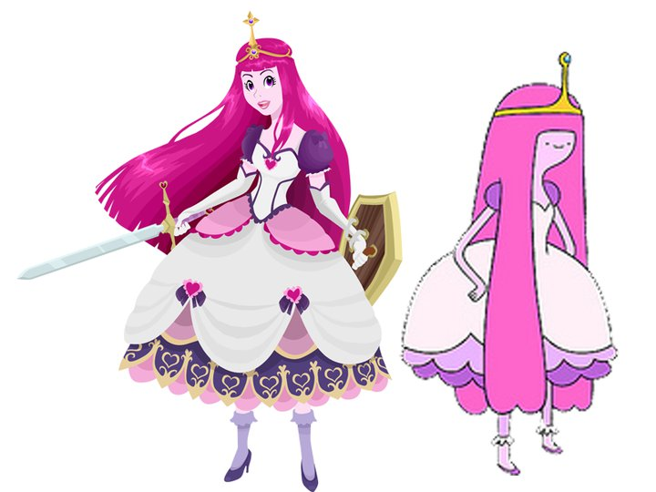 Princess bubblegum white dress