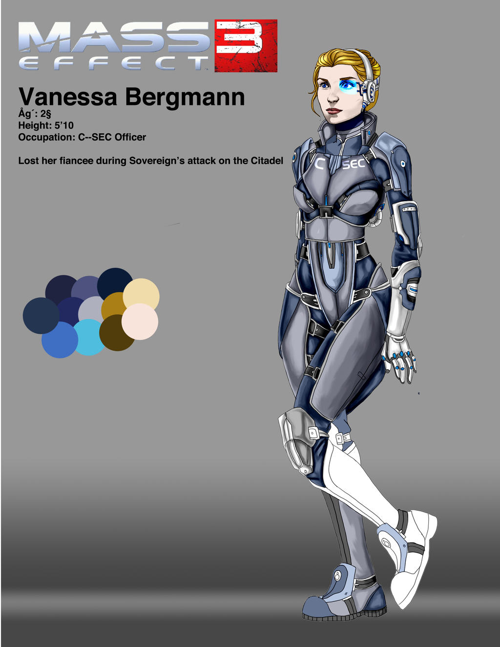 Mass Effect OC WIP by Spi-ritual-ity