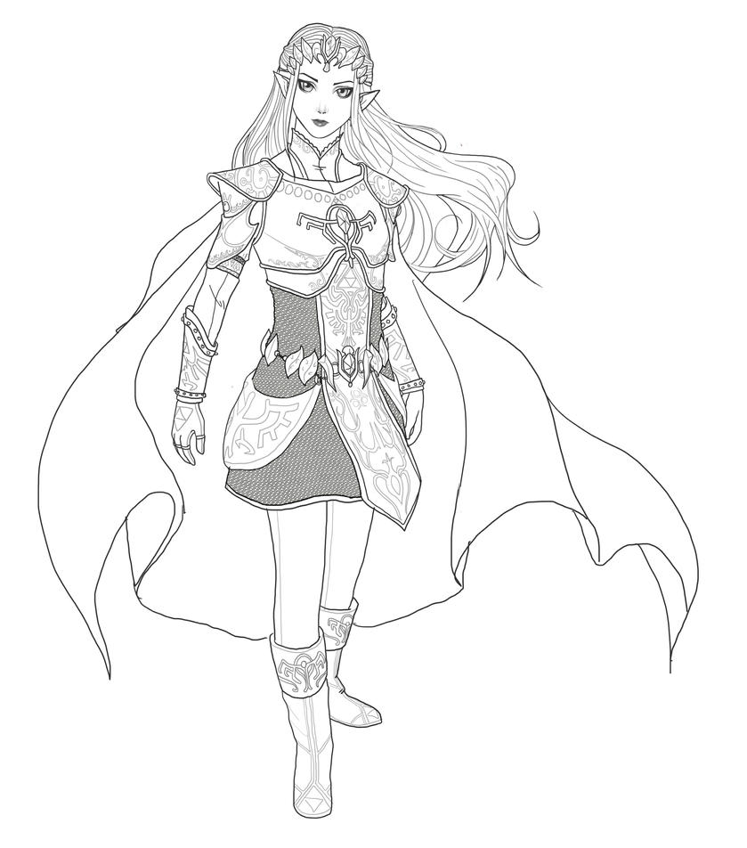 Warrior Queen Lineart By Spi Ritual Ity