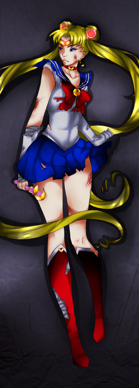 The Badass Sailor Moon    Colored by Fluffle-Puffz