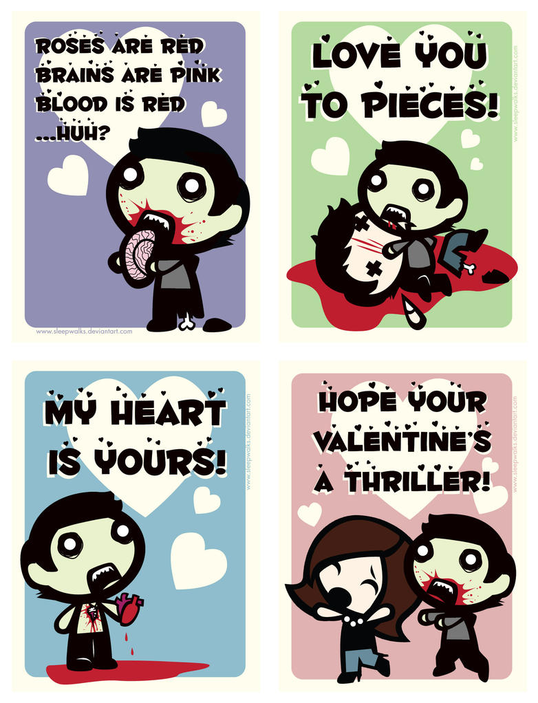 Zombie V-Day Cards by Sleepwalks