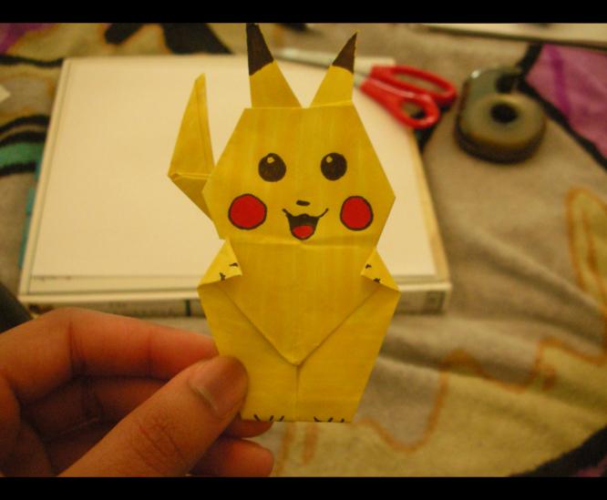 .Origami Pikachu. by ~wesroz