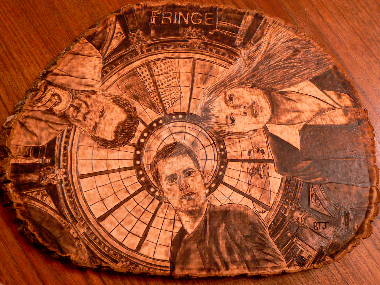 Fringe - Wood burning (pyrography art) by brandojones