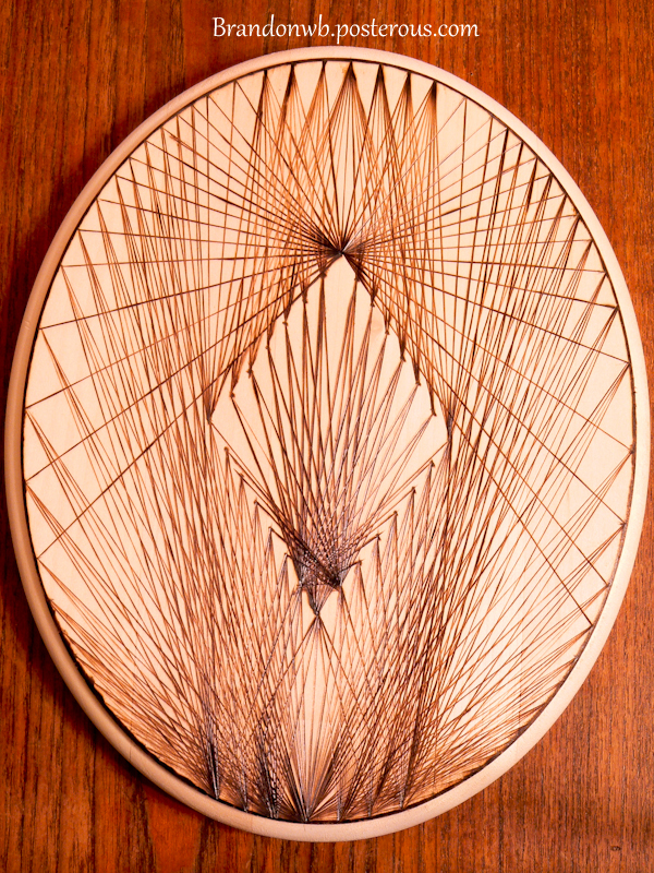 Lines collide - Wood burning (Pyrography) by brandojones