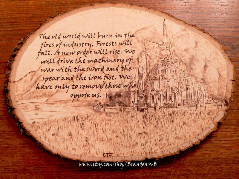 Lord of the Rings - Wood burning by brandojones