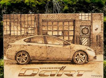 Dodge Dart - Traditional Art - Wood Burning by brandojones
