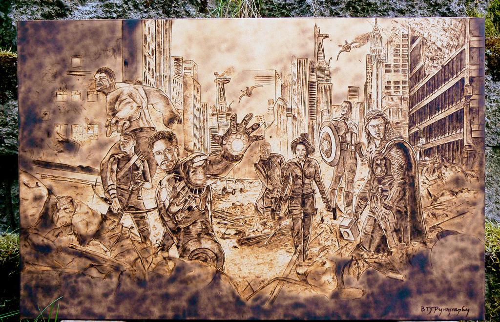 The Avengers Wood Burning by brandojones on DeviantArt