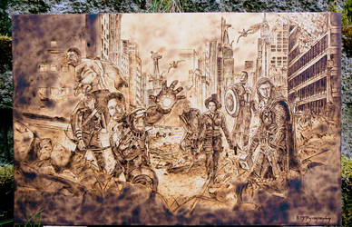 The Avengers - Wood Burning by brandojones