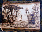 Doctor Who - Wood burning + quote