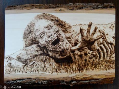 The Walking Dead - Zombie (Hannah) - Wood Burning by brandojones