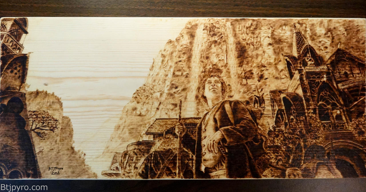 The Hobbit - Wood burning by brandojones