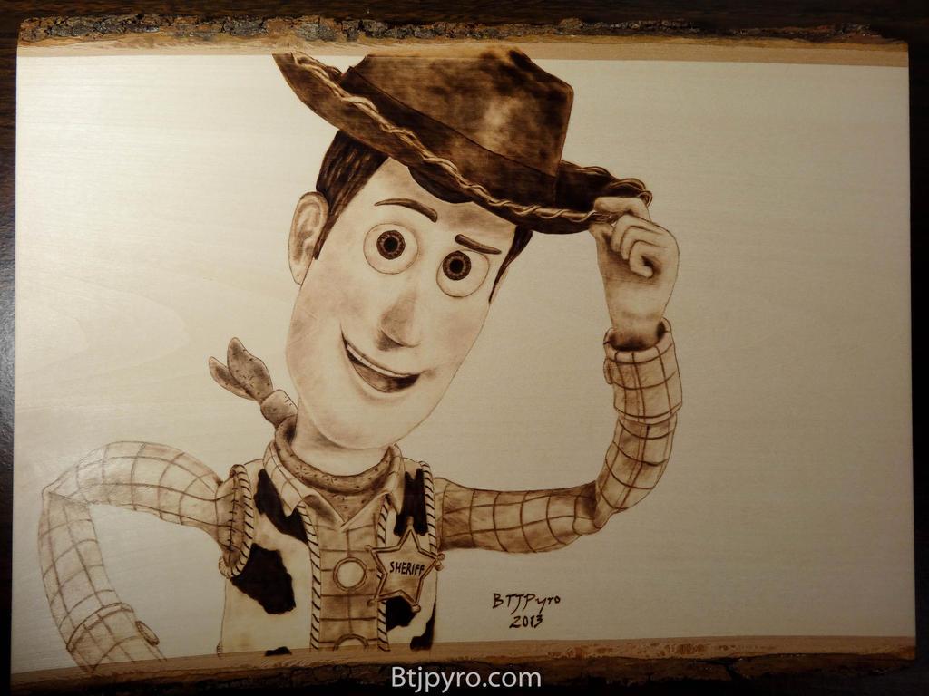 Woody Toy Story Wood Burning By Brandojones On DeviantArt