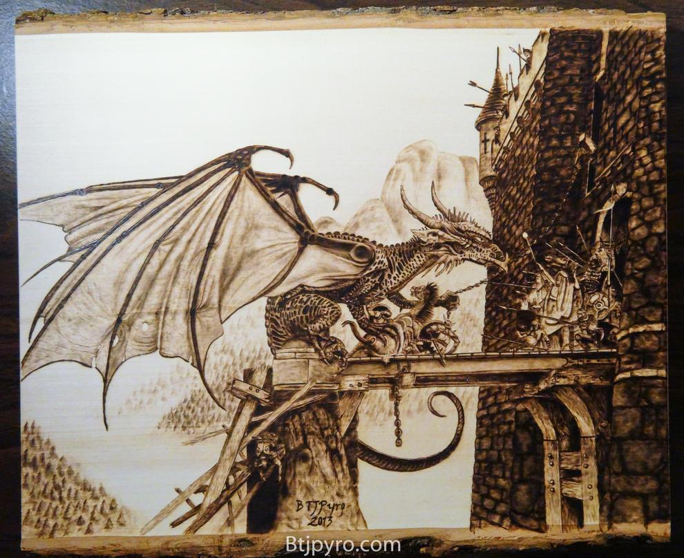 Dragonspell - Wood burning by brandojones
