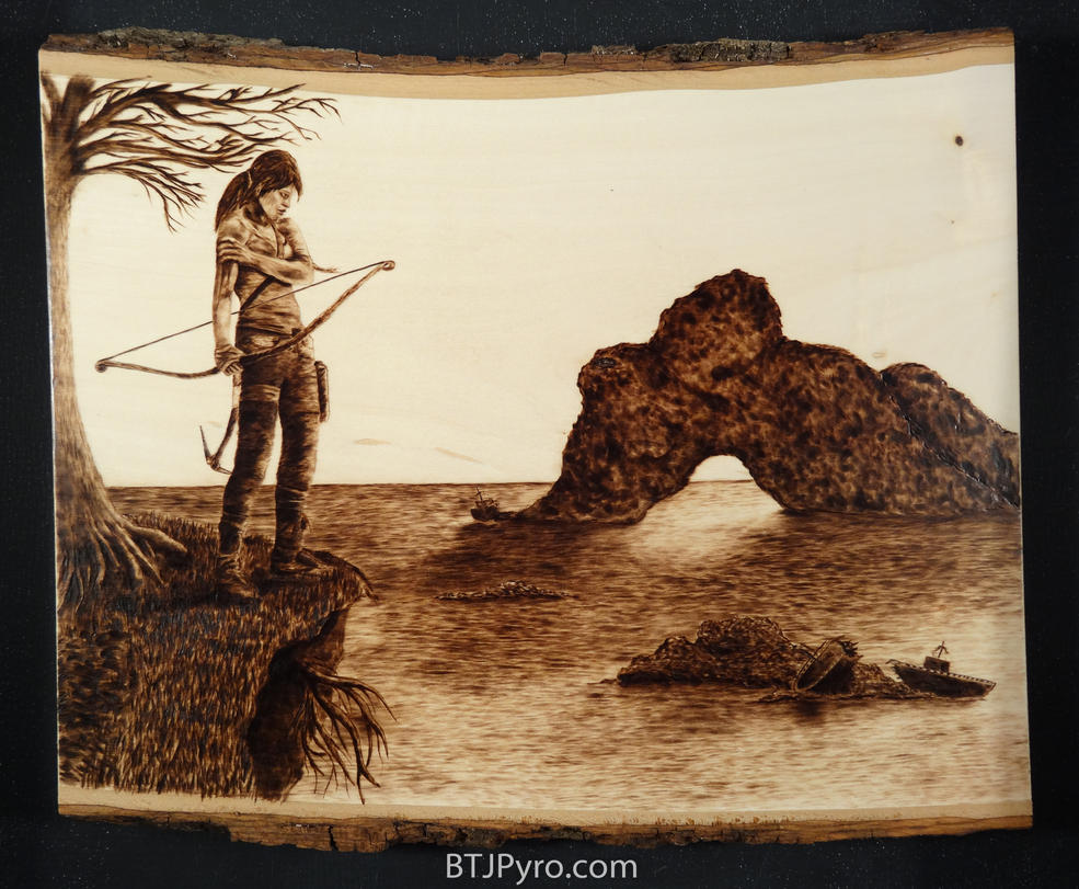 The Edge - Wood burning by brandojones
