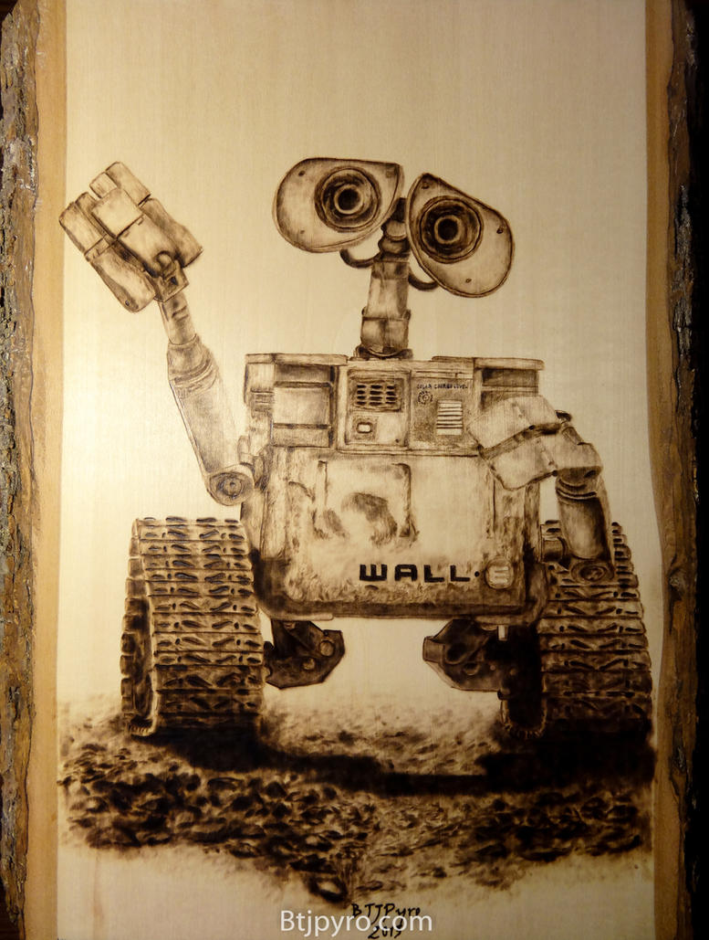 WALL-E - Wood burning by brandojones