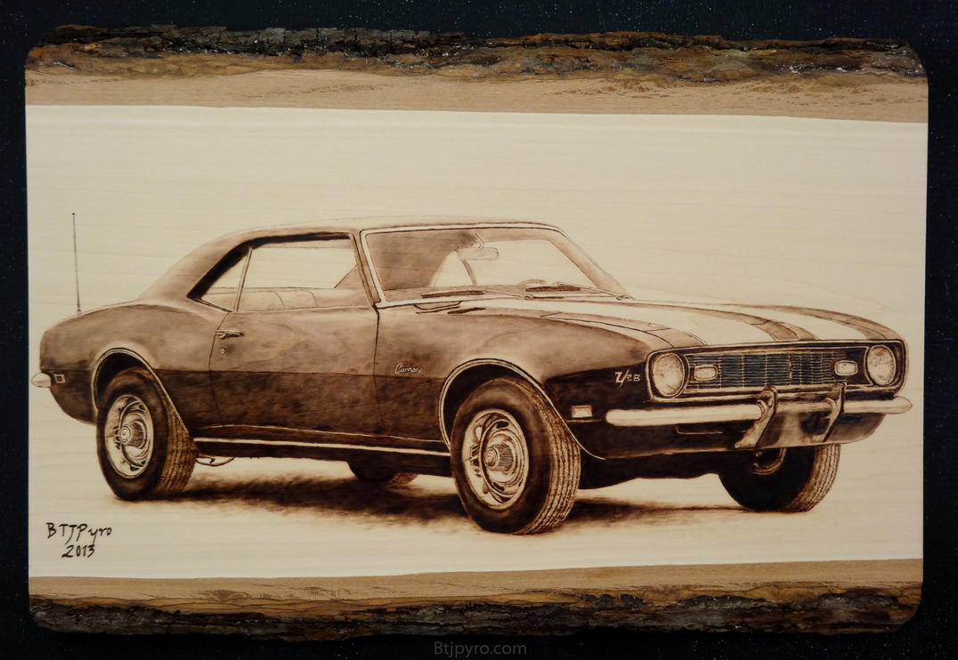 1968 Chevrolet Camaro Z/28 - Woodburning by brandojones