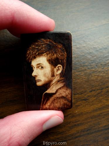 David Tennant - Mini woodburning by brandojones