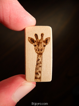 Giraffe - Super mini woodburning by brandojones