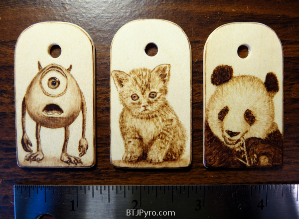 Various mini woodburnings #2 by brandojones
