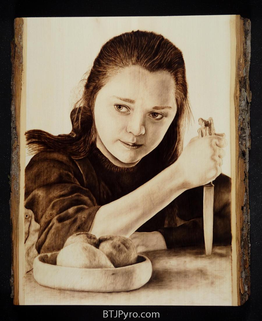 Arya Stark - Game of Thrones - Woodburning by brandojones