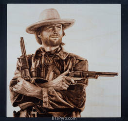 Clint Eastwood - Woodburning by brandojones