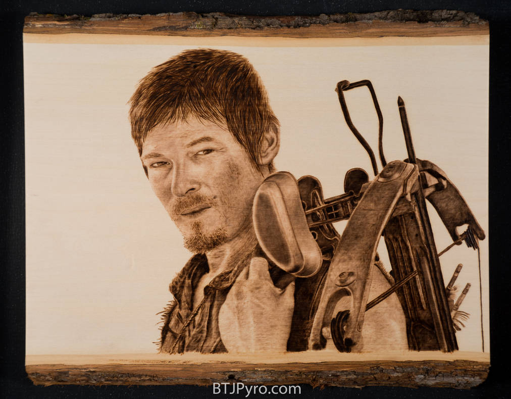 Daryl Dixon from 'The Walking Dead' - Woodburning