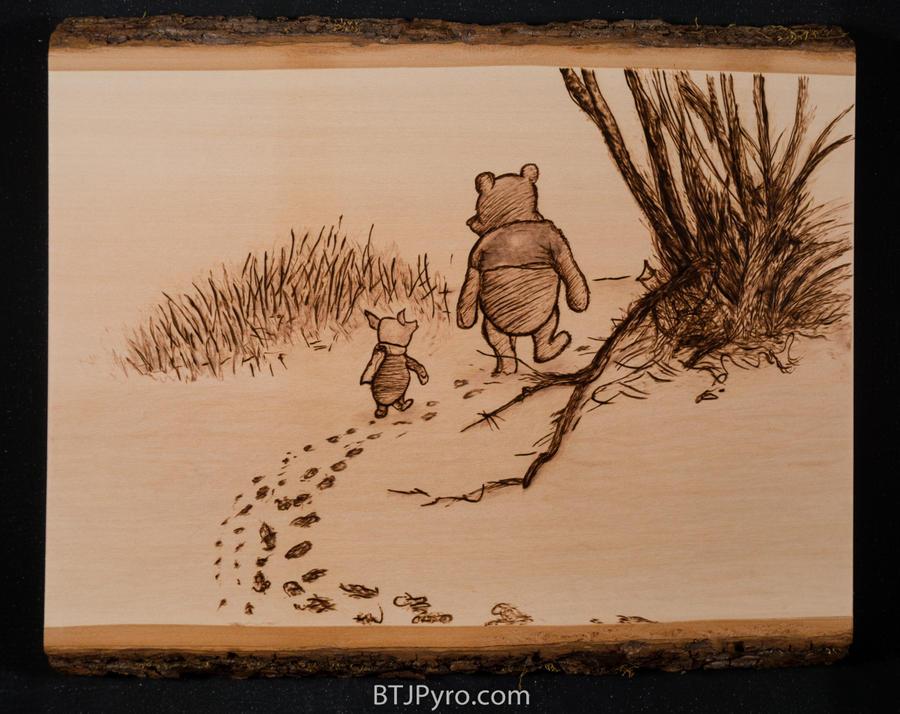 Winnie the Pooh sketch - Woodburning by brandojones