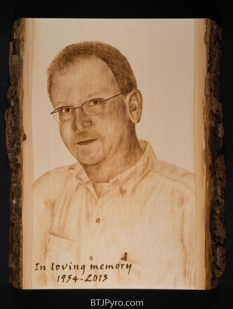Memorial Portrait - Woodburning by brandojones