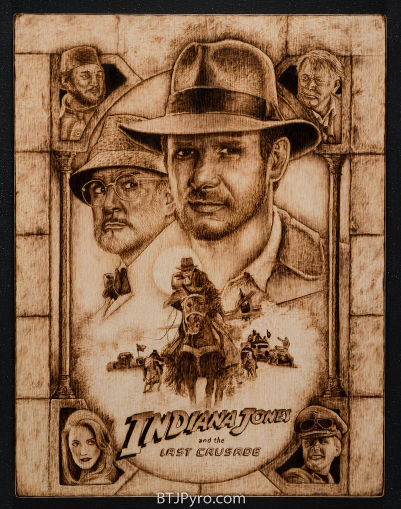 Indiana Jones - Handcrafted woodburning by brandojones