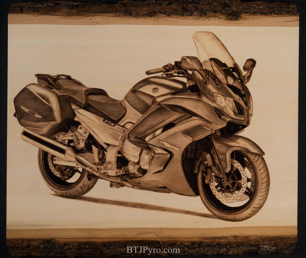 2014 Yamaha FJR 1300 - Handcrafted Woodburning by brandojones
