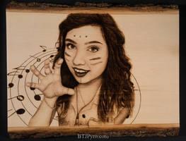 Pyrographed portrait of a friend by brandojones