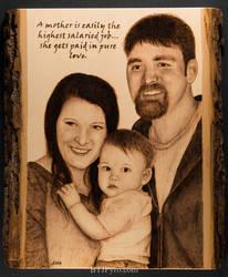 Pyrography - Family Portrait