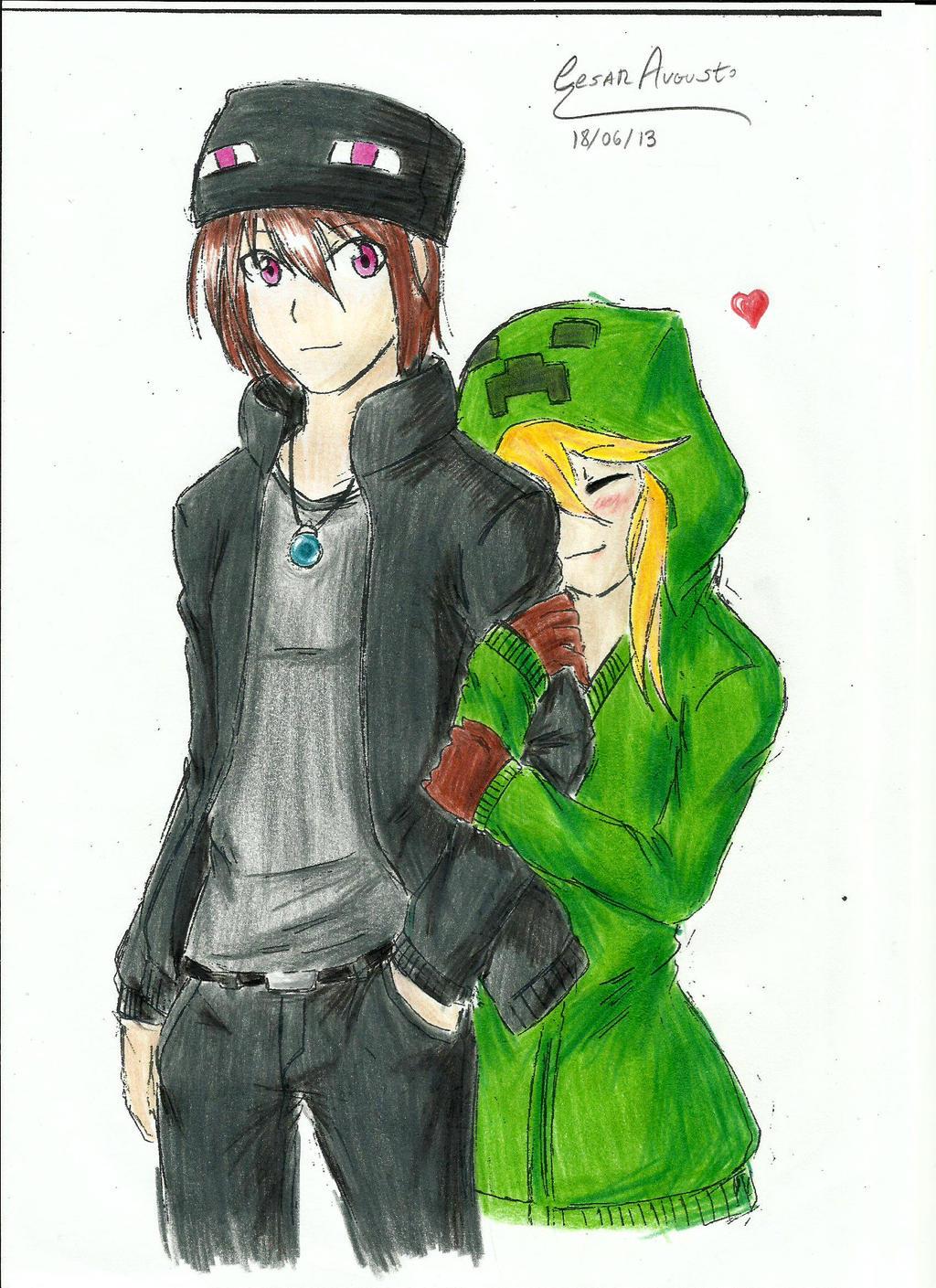 Minecraft enderman x creeper by arc501 on deviantart - Creeper anime girl ...