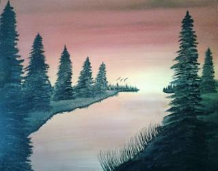 Autumn Pines by Wildscaper