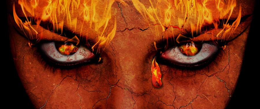 Eyes of fire by PSDtech