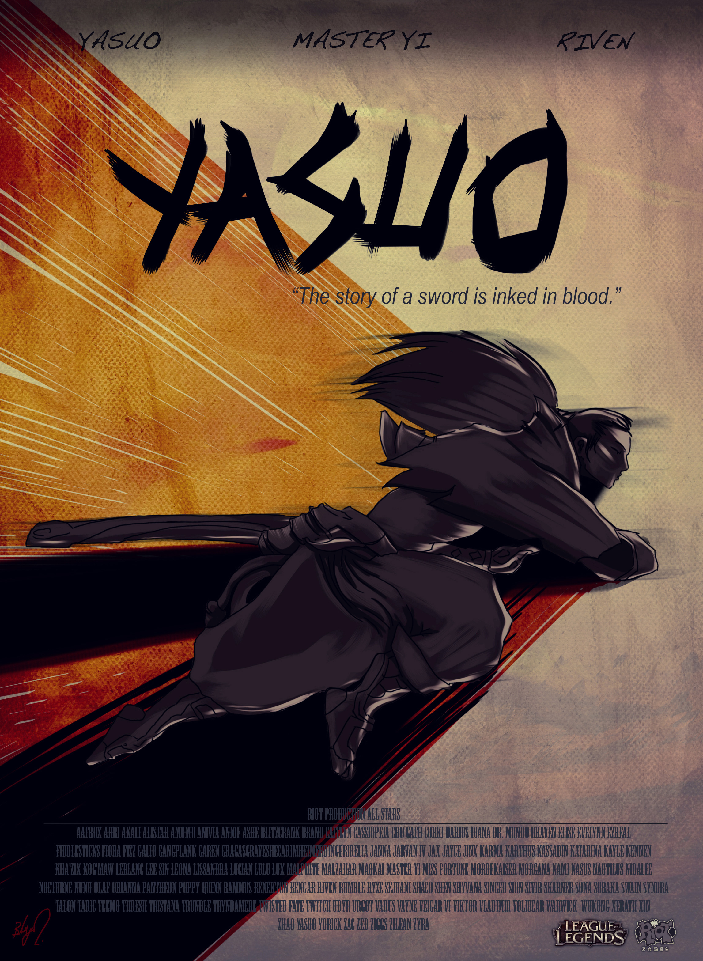 Yasuo Fan Art Contest Yasuo Movie by burcuay...