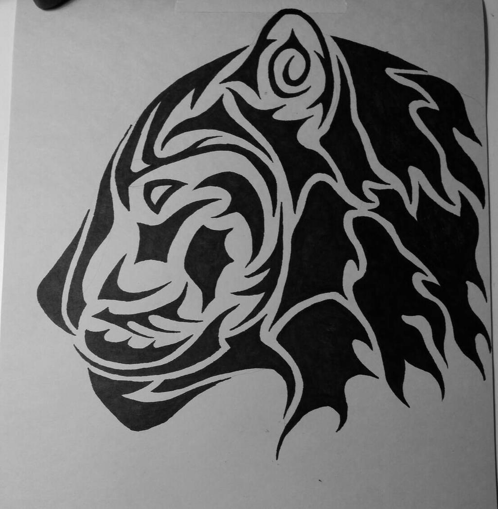Tribal Tiger By Ruttan On Deviantart: Tribal Tiger By ApariDog On DeviantArt