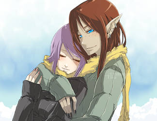 Being Hugged... by wickedalucard