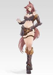 Fox Girl - Warrior by wickedalucard
