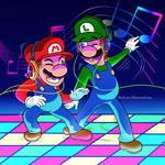 Disco Dancing Mario Bros.