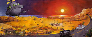 Dusty Dunes Desert by nobody-is-driving