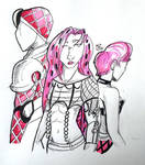 Inktober- Pink Fam