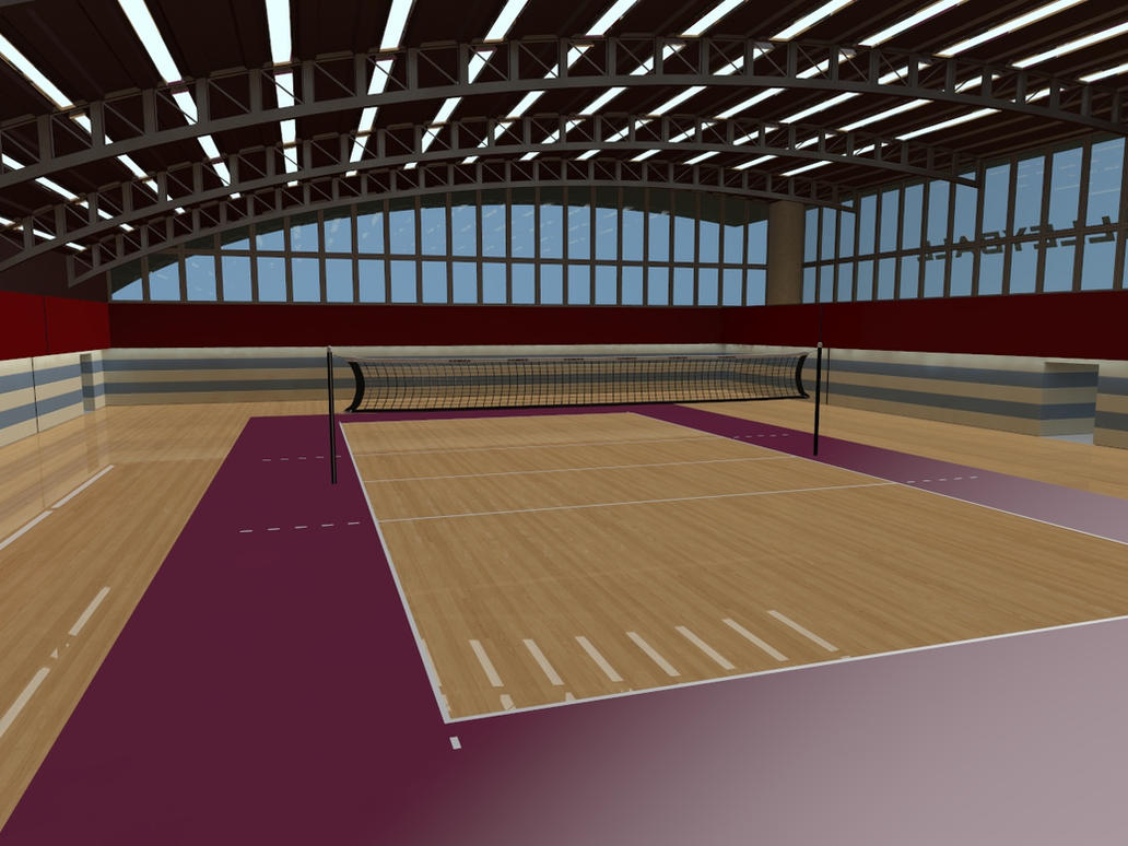 Volleyball Court Facility - WIP001 by Ptrope on DeviantArt
