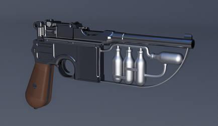 Green Hornet Gas Gun - 3D Model