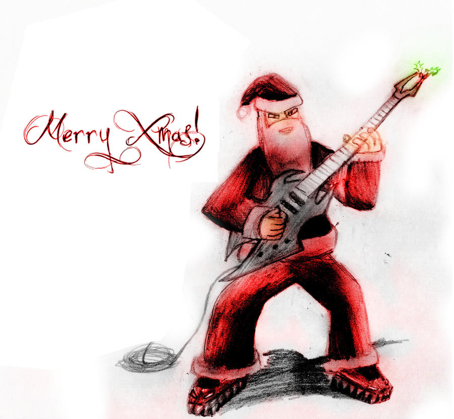 Merry metal xmas by barricade eva on deviantart