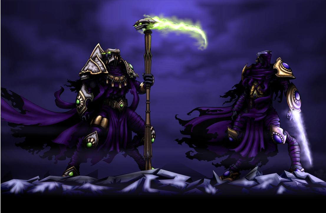 Starcraft2 Dark Templars by JTSubconscious8