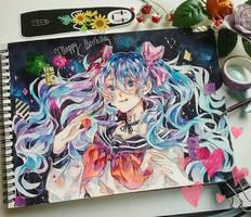 MIKU HATSUNE by jeff-violet-2304