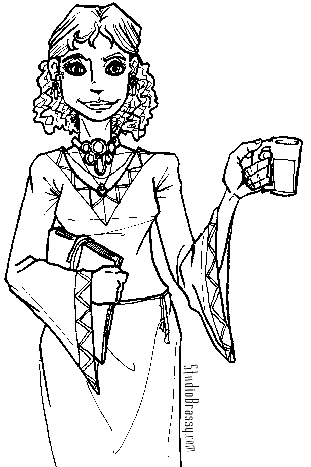 Ladies - Free Colouring Pages