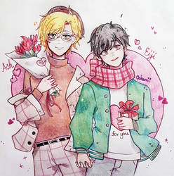 Valentine AshEiji by Ookamii--chan