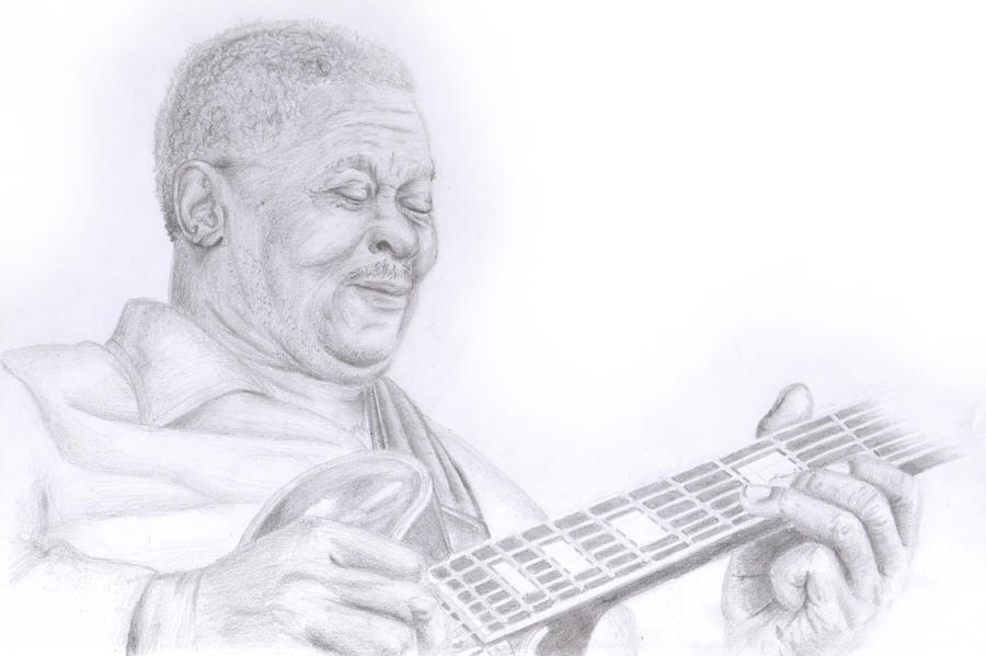 BB King with Lucille by Neon55555